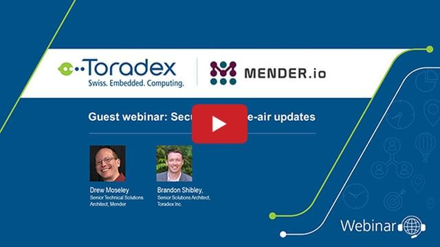In this webinar video, Mender.io discusses some of the considerations in designing an update system. They demonstrate best approaches for safely deploying over-the-air (OTA) software updates for IoT devices without downtime or service disruption on a Toradex Colibri iMX7 SoM, powered by the NXP® i.MX 7 processor, with raw NAND.