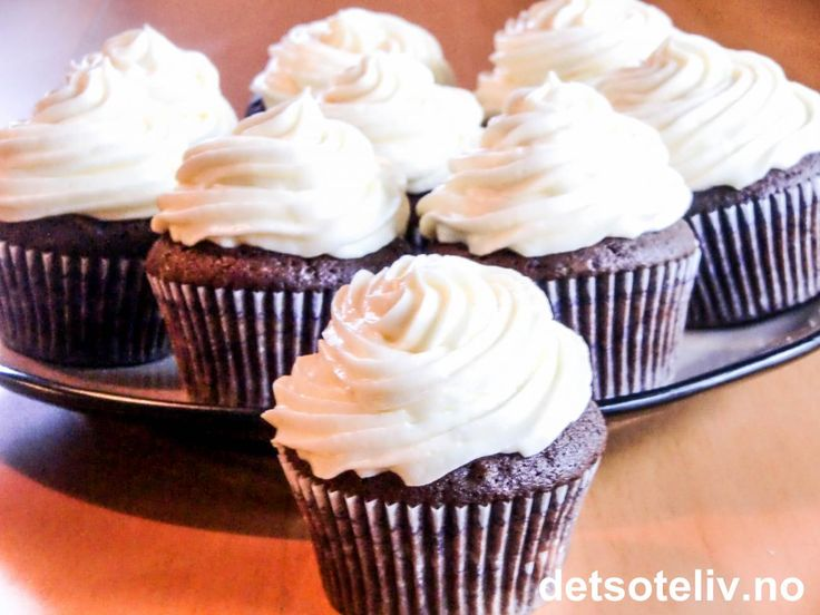 Chocolate Cupcakes with White Frosting | Det søte liv