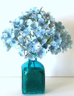 Quick and Simple gumpaste Hydrangea tutorial. Shaile's Edible Art.