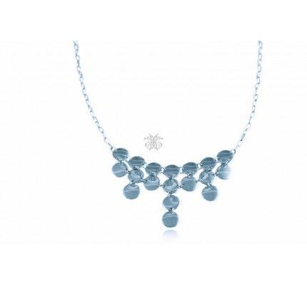 Κολιέ λευκόχρυσο #necklace #whitegold #woman #chic #classic