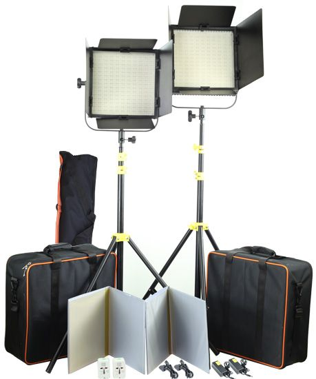 Studio LED Lighting Kit $507 USD on special - Camtree Shine - http://www.dvcity.com/dvshop/2pc-CAMTREE-Shine-LED-1000-Studio-light-With-Stand-CT-1-10015.html