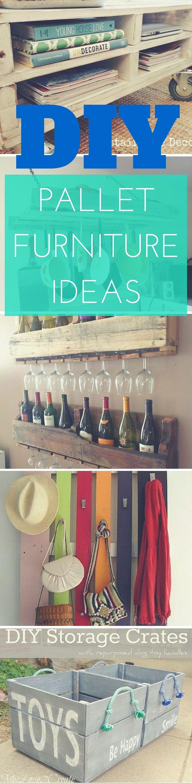 27 DIY Pallet Furniture ideas - indoor/outdoor pallet furniture from coat hangers to wine racks. via: http://www.thesawguy.com/diy-pallet-furniture-ideas/