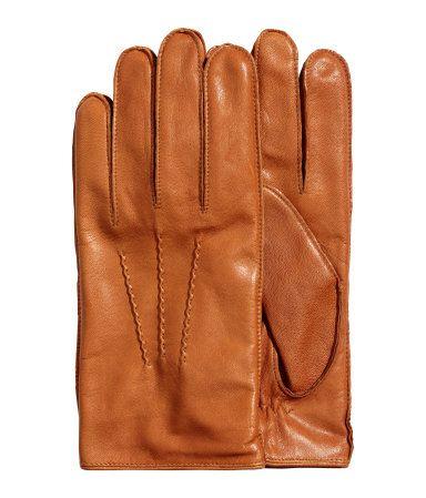 Leren handschoenen | Middenbruin | Heren | H&M NL