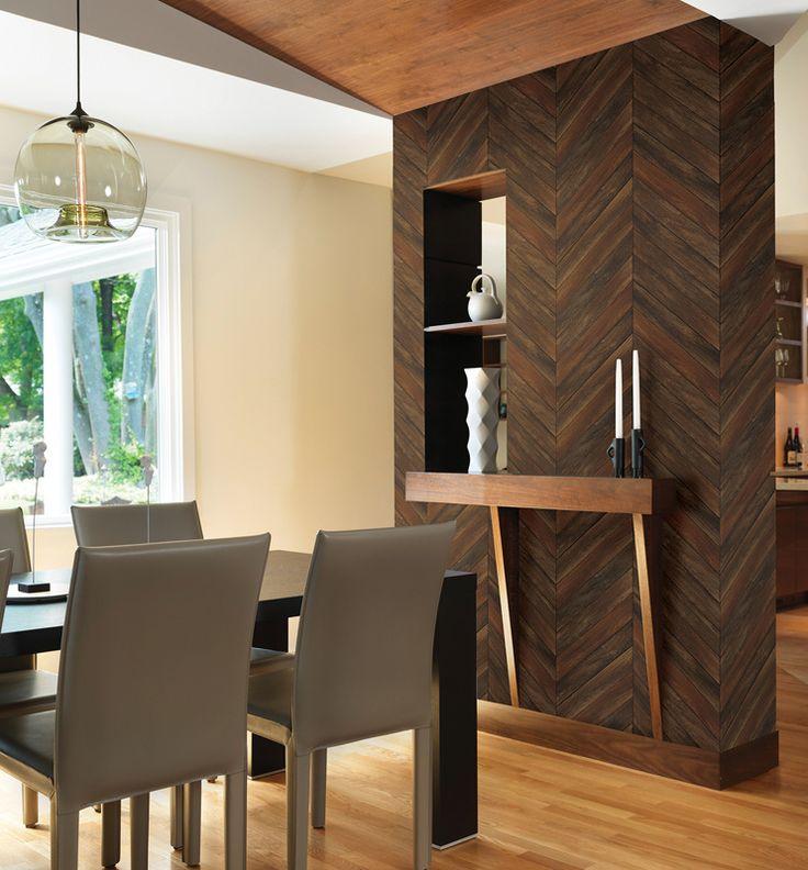 Restored 24007 hout planken visgraat kastanjebruin