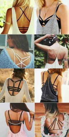 How to wear a strappy bralette crop top and a slouchy tank, check out these cute looks @ http://JASSIELINE.com