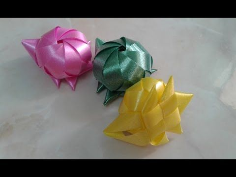How to make a Ribbon Golden Fish / พับริบบิ้นโปรยทานปลาทอง - YouTube