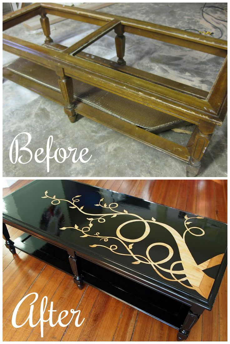 Best 25 old coffee tables ideas on pinterest coffee table junky old coffee table turned sleek and gorgeous that viney design is actually wood grain geotapseo Images