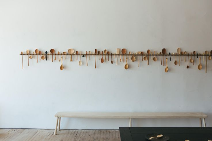 turned spoons by Josh Vogel at Blackcreek Mercantile Co. via @remodelista