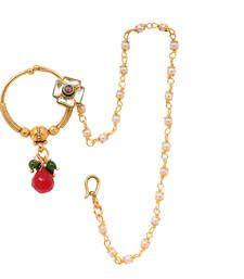 Buy Amazing Stylish Golden Nose Ring nose-ring online