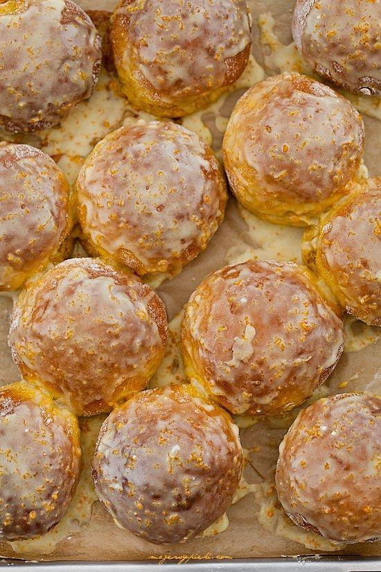 Słodkie bułeczki dyniowo - pomarańczowe