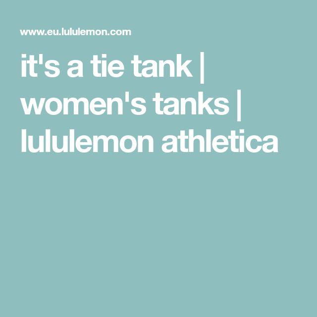 it's a tie tank | women's tanks | lululemon athletica