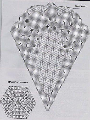Grilles pour crochet - Belle nappe ronde