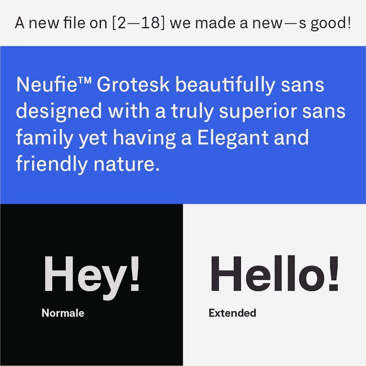 New font: Neufile Grotesk font family by Letter Omega