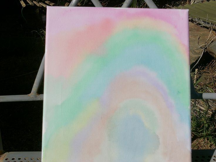 canvas watercolour painting  small $10