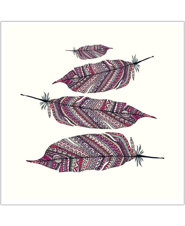 Aztec Feathers of Monika Strigel now on JUNIQE!