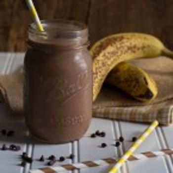 Skinny Chocolate Peanut Butter Banana Shake