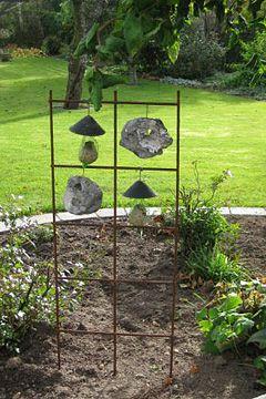 Fin dekoration med sten