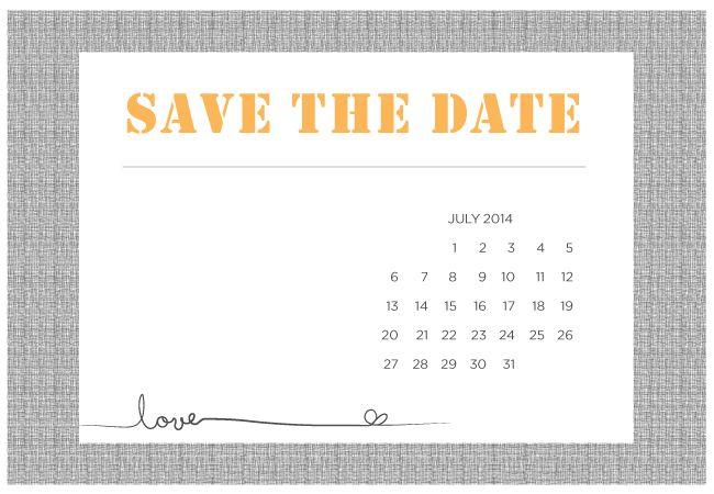 Printable DIY Save-The-Date Templates