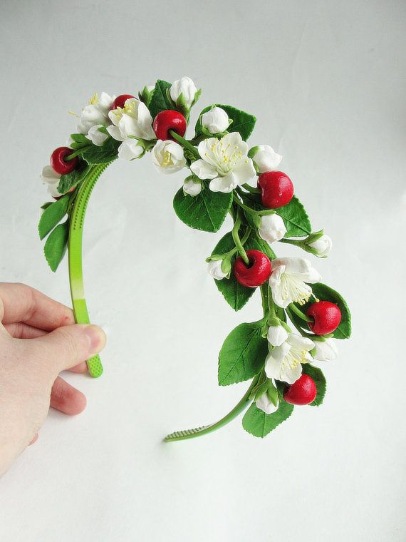 wedding headband Cherry blossom wedding от FlowerFromEugene
