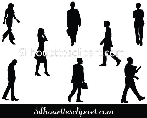 Walking Silhouette Vector Graphics Download | FITNESS ...