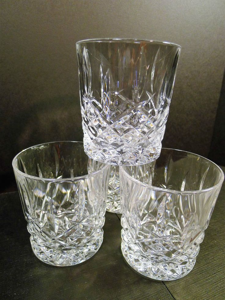 Set of 4 Cross & Olive Crystal Old Fashioned Whisky Tumblers | eBay
