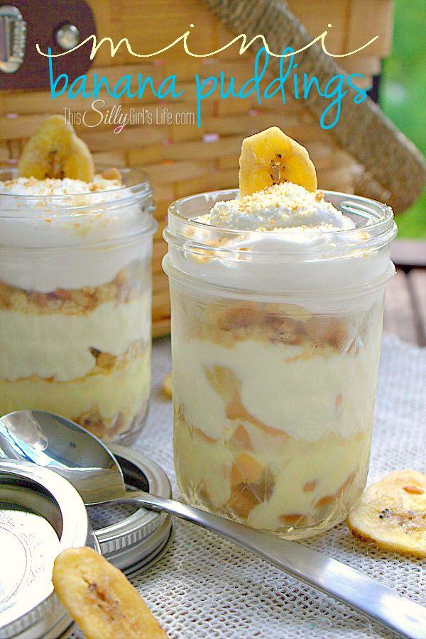 Mini Banana Puddings - so perfect for summer!