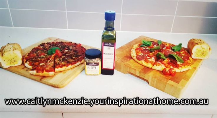 Dress up pizzas by adding the YIAH Pizza Spice blend and fresh out the oven drizzling with YIAH Mediterranean EVOO