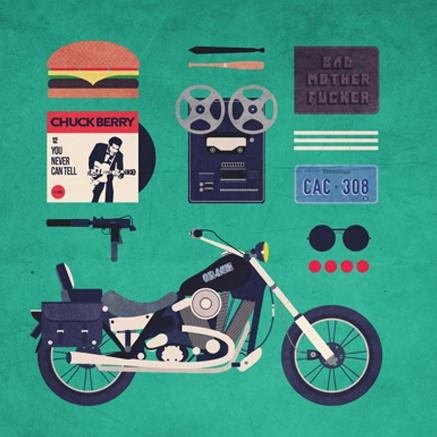 """Série """"Movies Hipster Kits"""", por Alizée Lafon"""