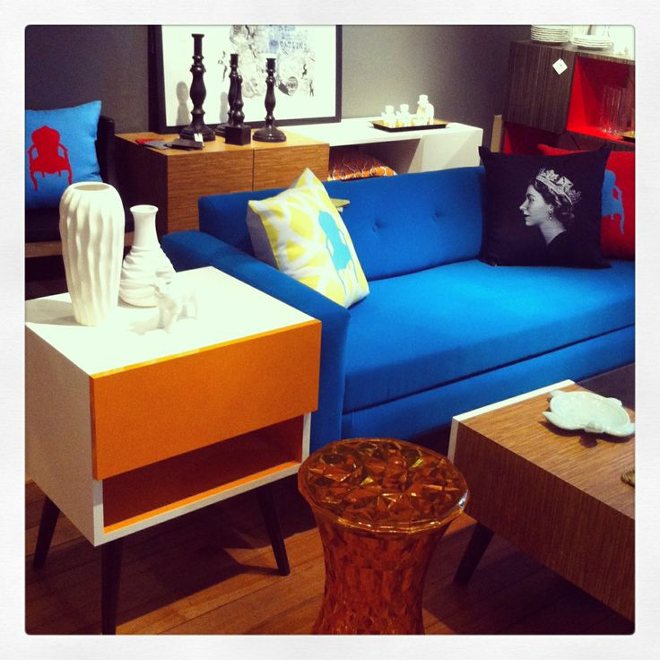 Sofá azul #blue #furniture #decor #design