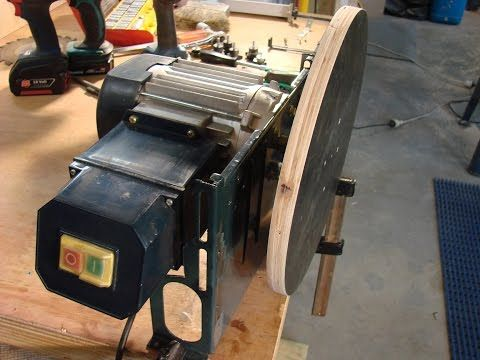 DIY drill sander - YouTube