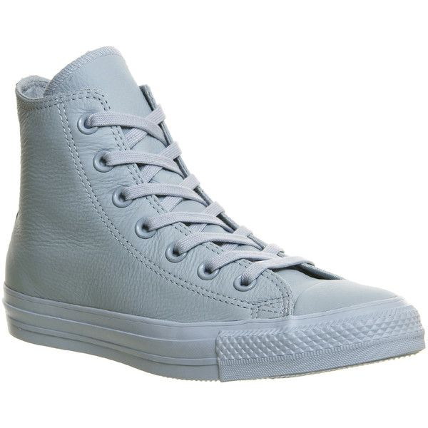 All Star Hi X Converse Mono Exclusives. The iconic Converse All Star Hi is famous worldwide, this exclusive version of the silhouette comes with a baby blue lea...