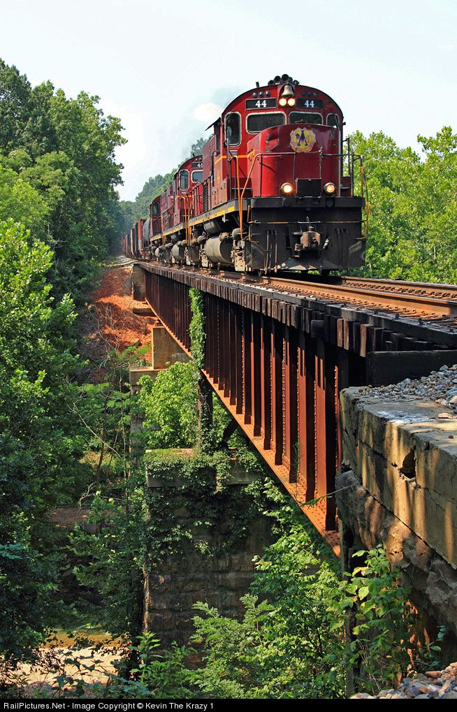 RailPictures.Net Photo: AM 44 Arkansas & Missouri Railroad Alco C420 at Brightwater, Arkansas by Kevin The Krazy 1