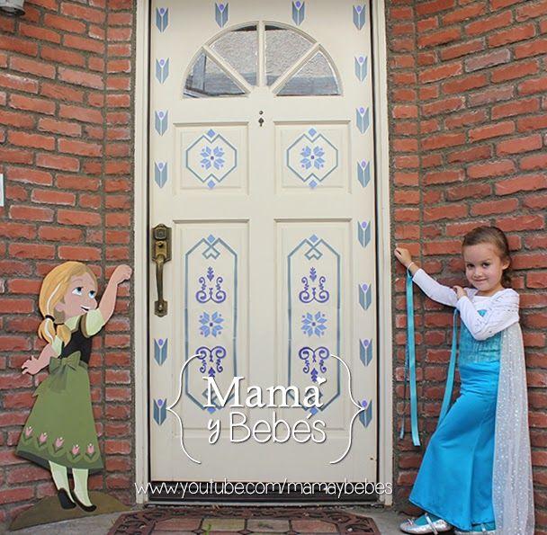 Frozen - Elsa's bedroom door decor FREE step by step video and template DOWNLOAD