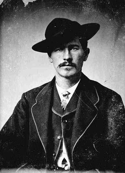 Wyatt in Wichita, Kansas, 1874.  Sources: https://truewestmagazine.com/new-wyatt-earp-photo/  http://abesguncave.com/wyatt-earp-on-gunfighting-interview/  http://americanshootingjournal.com/wyatt-earp-interview-on-gunfighting/