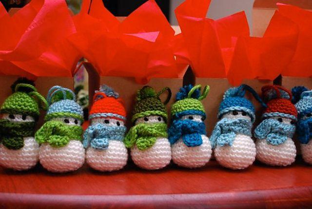 Ravelry: Snowman Ornament by Audra Brown  amigurumi  crochet hat scarf  jizo buddha