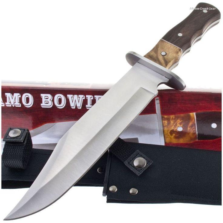 211145 Alamo Burlwood Hunting Bowie Knife   MooseCreekGear.com   Outdoor Gear — Worldwide Delivery!   Pocket Knives - Fixed Blade Knives - Folding Knives - Survival Gear - Tactical Gear