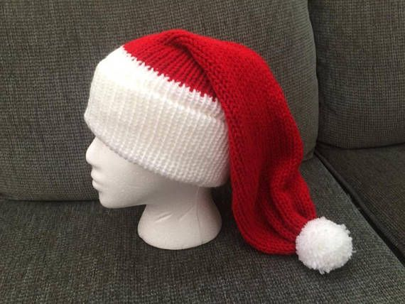 Perfect hat to wear this holiday season! Can also be made in Green for an elf hat! Or custom colour.