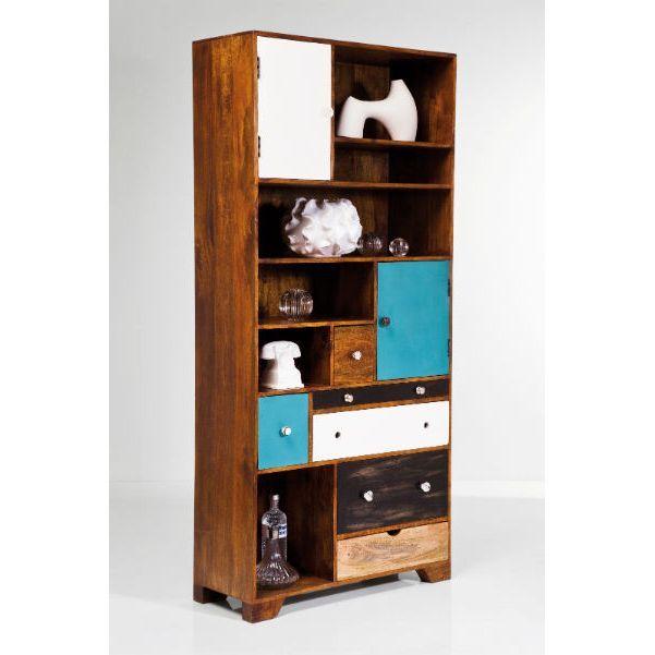 Βιβλιοθήκη Babalou Ένας όμορφος συνδυασμός, κλασικών στοιχείων και μοντέρνων χρωμάτων, που θα στολίσει το χώρο σας, επιτρέποντάς σας να τακτοποιήσετε κάποια από τα προσωπικά σας αντικείμενα! Υλικά: κατασκευασμένη από ξύλο mango (ινδικής προέλευσης).