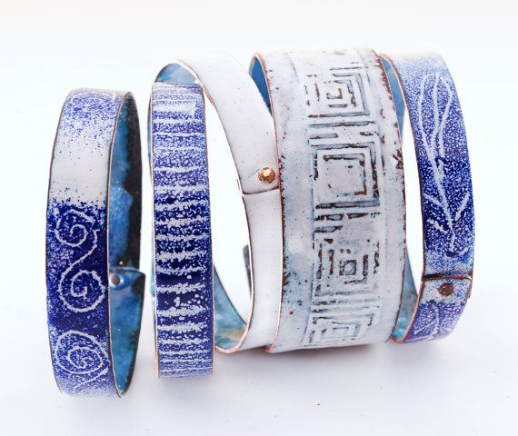 MINOYAN  enameled bangles by OYRZANOWSKA on Etsy