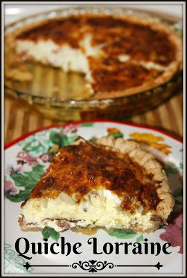 Easter Brunch Quiche Lorraine - a savory dish perfect for your Easter meal!