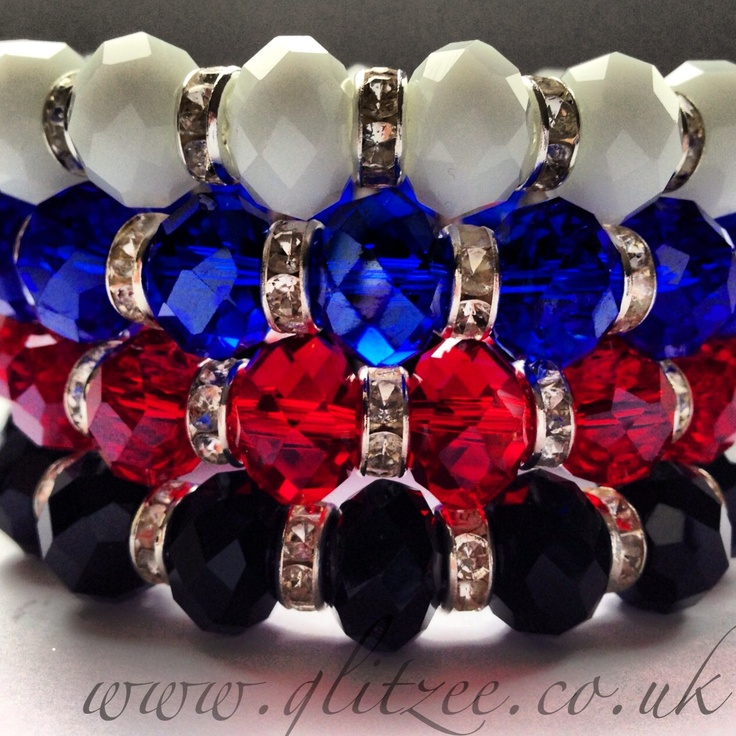 Beautiful coloured rondelles with crystal spacers.