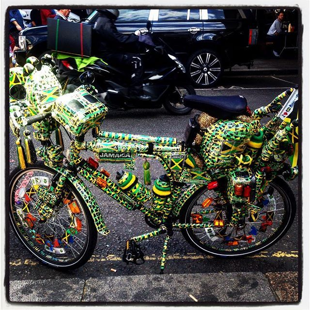 """Jamaica Funk @somebodyandsons #Carnival #Jamaica #Reggae #funk #bicycle"" Photo taken by @somebodyandsons on Instagram, pinned via the InstaPin iOS App! http://www.instapinapp.com (08/29/2015)"