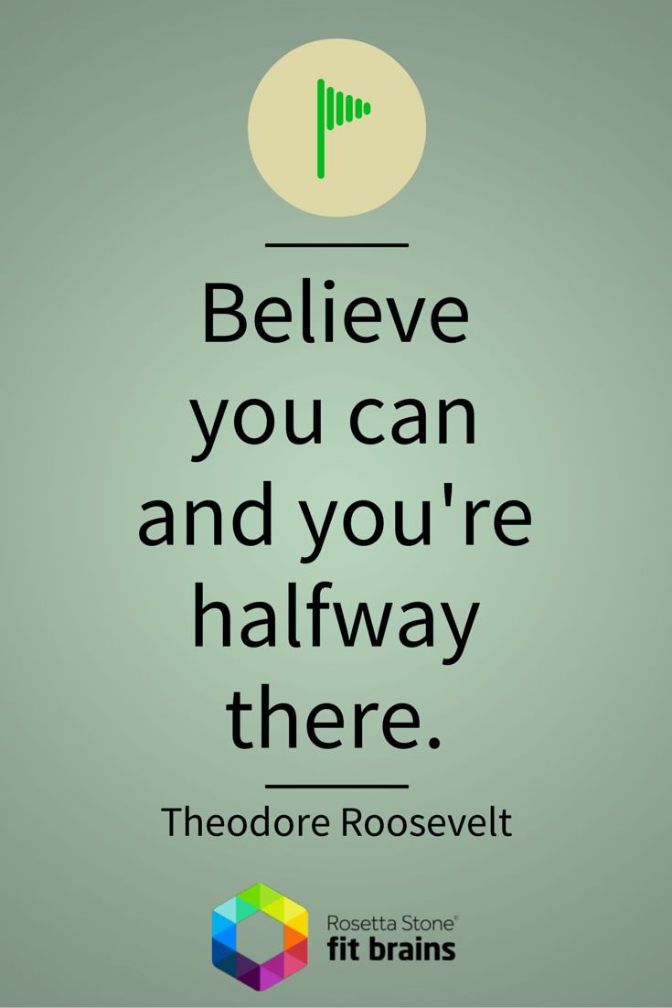 "#Quote of the Day: ""Believe you can and you're halfway there"" #QOTD http://bit.ly/1ySFNw4"