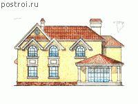 Проекты домов с зимним садом № W-279-1K - вид сзади