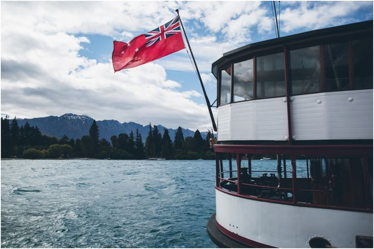 The TSS Earnslaw departing Steamer Wharf in Queenstown for a Wedding at Walter Peak  #WalterPeak #NZweddings #Queenstown #RealJourneys #TSSEarnslaw #LakeWakatipu #NewZealand