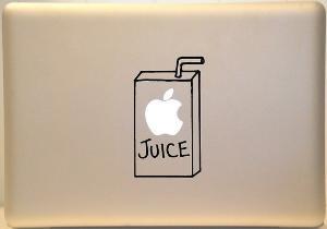 Apple Juice Box Macbook Decal Sticker for Mac Laptop by KrazyKutz