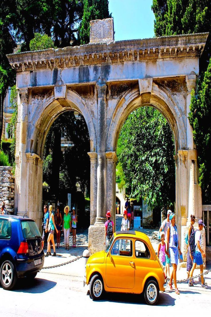 The Roman gates to the city of Pula Croatia