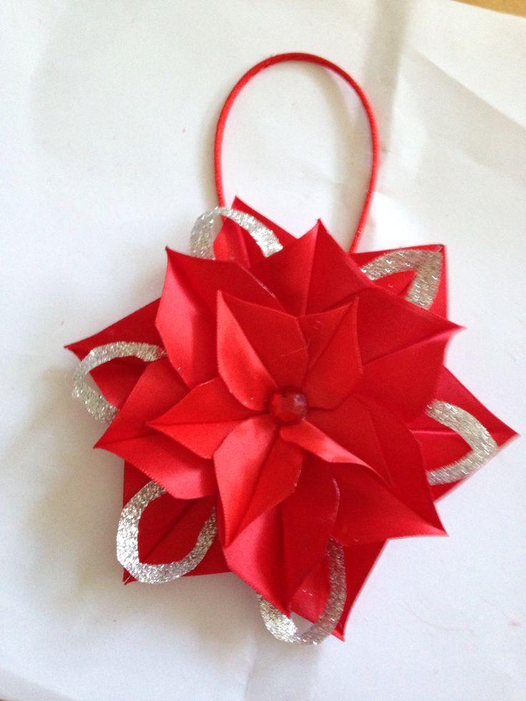 Flores navide a manualidades pinterest flores - Manualidades de navidad en tela ...