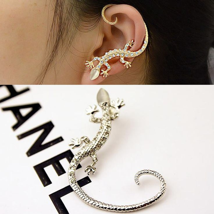 Hot 1 Pc Women Girl Elegant Charming Exaggerated Lizard Design Ear Cuff Earrings Jewelry Gift
