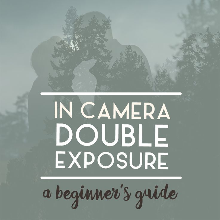 how to create in-camera double exposure portraits